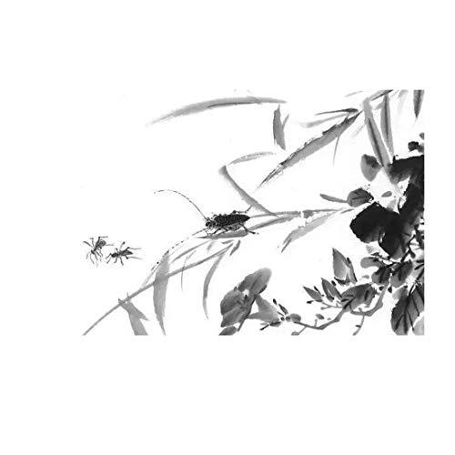 Chinesische handgemalte minimalistische Kunstkunstdesign-Tuschemalerei
