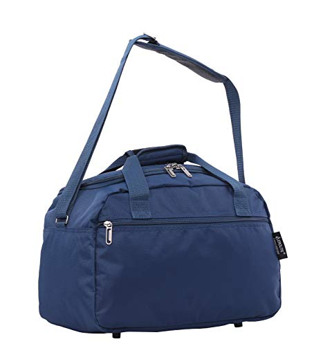 Aerolite 40x20x25 New and Improved 2020 Ryanair Maximum Size Holdall Cabin Luggage Under Seat Flight Bag, (Navy)