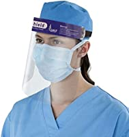 ORILEY ORFSN04 175 Micron Disposable Face Shield with Adjustable Elastic Strap Anti-Splash Single Use Protective Facial...