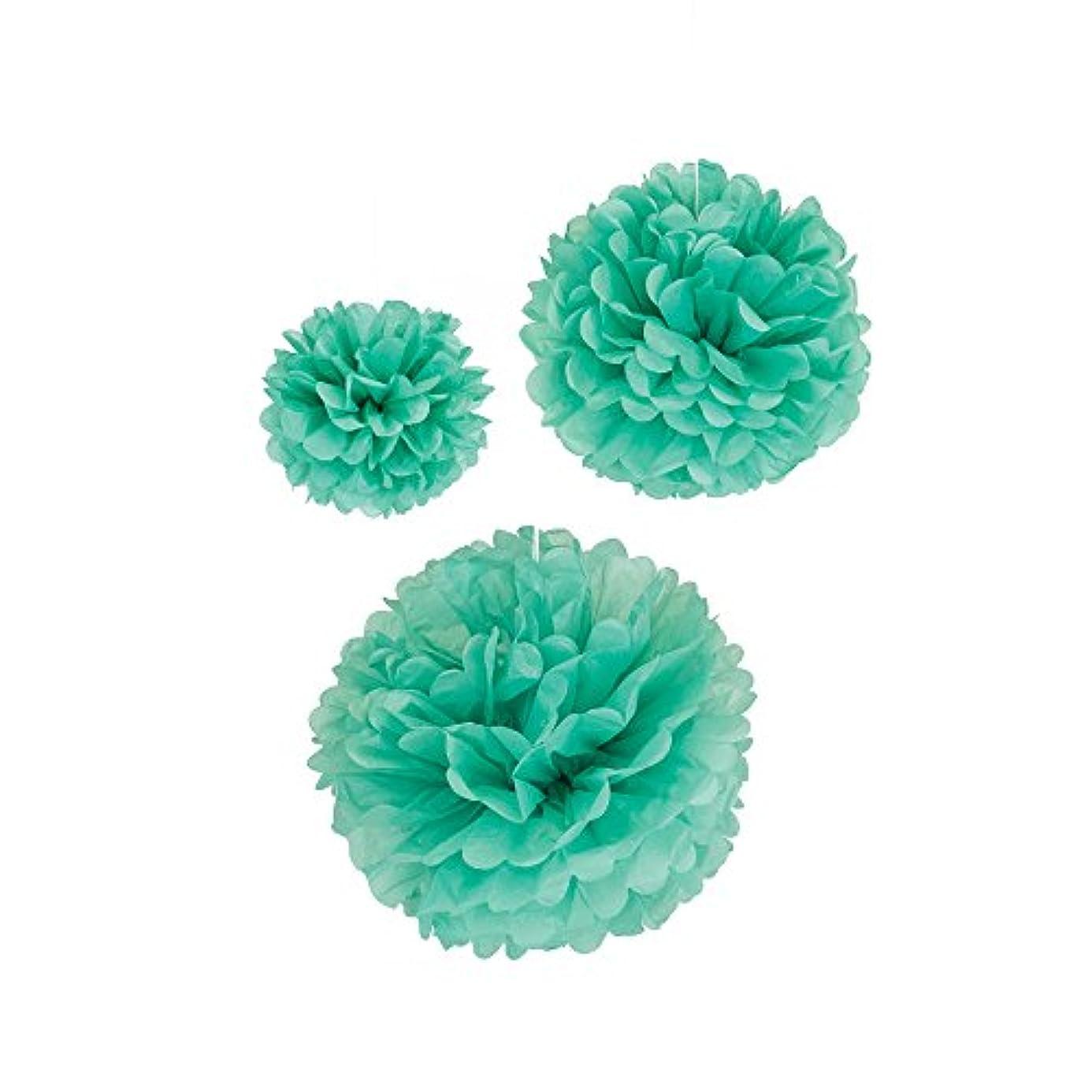 LUV RIBBONS PPT001-315 3 Piece Tissue Pom Flower Ball, 8