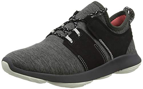 Hush Puppies Damen Geo Sneaker, Grau (Dark Grey Dk Grey), 38 EU