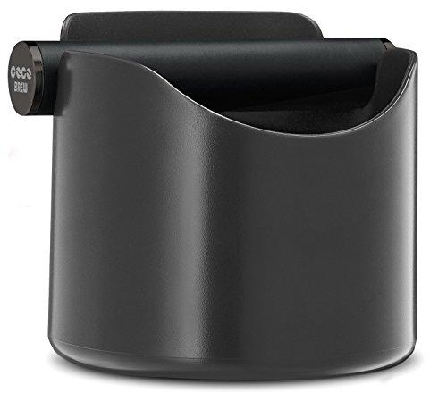 CoCo Brew, Espresso Knock Box Durable 4.7 Inch, Barista Style Sturdy Shock-Absorbent Knockbox - Dishwasher Safe (Grey)