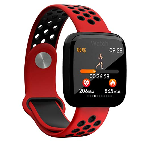QTEC Smart horloge Smart Rode Polsband Bloeddruk Monitor Smart Band Groot Scherm Era Snel Roteren Foto's delen Smart Armband
