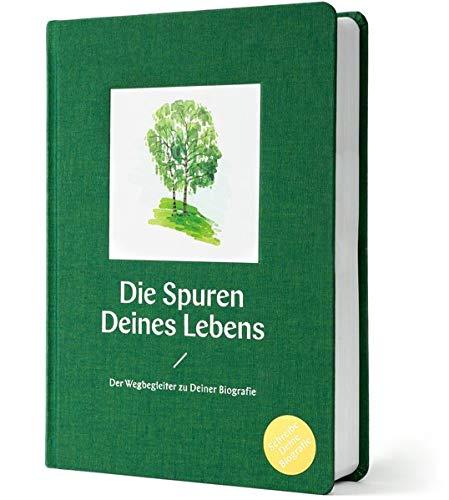 Die Spuren Deines Lebens: Der Wegbegleiter zu Deiner Biografie | Schreibe Deine Lebensgeschichte | Selbstreflexion und Qualitätszeit | Ideales Geschenk-Buch (lindengrün)