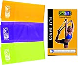 GoFit Flat Resistance Band Kit - Latex Free , Multiple Resistances