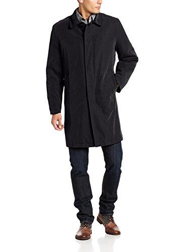 London Fog Men's Durham Rain Coat, Black, 42 Short