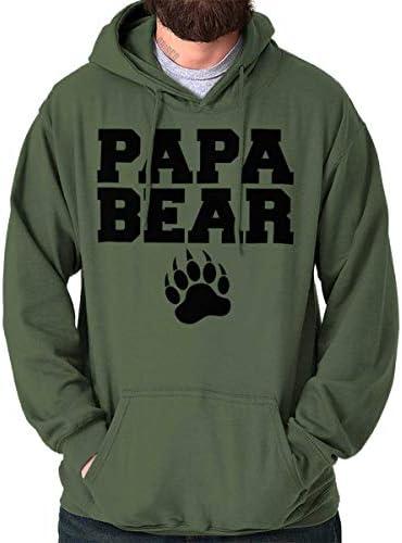 Papa Bear Paw Worlds Best Dad Gym Hoodie Hooded Sweatshirt Men Military Green product image