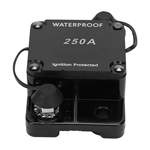 SEDOOM Disyuntor, Interruptor Automático A Prueba De Agua con Portafusibles De Reinicio Automático, DC12‑24V, HT ‑ 608250A