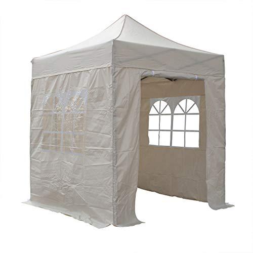 AIRWAVE 2x2m Waterproof Beige Garden Pop Up Gazebo - Stunning Outdoor Marquee Tent with Carry Bag