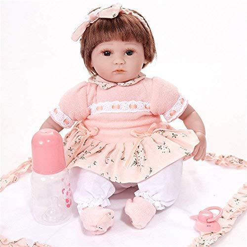 DFJU Muñeca Rebirth de 45 cm / 18 Pulgadas, muñecas de simulación de extremidades, Juguetes de Silicona para niños, Regalo, 45 cm, muñecas Reborn