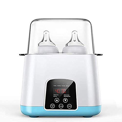 6 in 1 Flaschenwärmer baby Sterilisator Doppelt Dampfsterilisator Babykostwärmer Sterilisator für Babyflaschen Bottle Warmer Milchwärmer