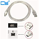 Connectors USB Male to Firewire Connectors 1394 4 Pin Male iLink Adapter Cord firewire 1394 Cable for Sony DCR-TRV75E DV Camera Cable 120cm - (Cable Length: 120cm)