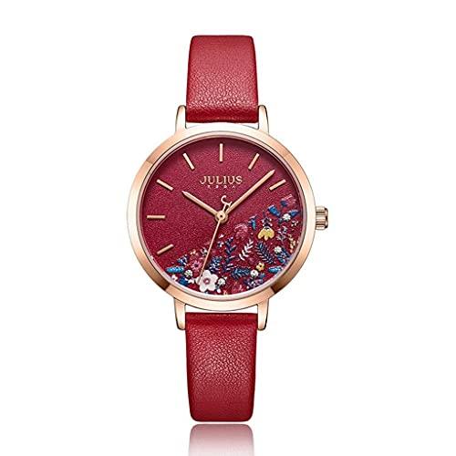 JYTFZD YANGHAO-Reloj de Pulsera- Reloj de Cuarzo Lady Retro Moda Reloj de Cuarzo Impermeable 3D Reloj de Estudiante de Flor (Color: c) OUZDNSSB-5 (Color : B)