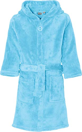 Playshoes Kinder-Unisex Fleece Uni Bademantel, Blau (Bleu 17), 134/140