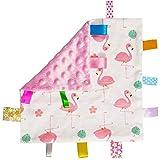 Baby-Rosa-Tag Sicherheitsdecke - Warm Sicher Plüsch Sicherheit Tröster Decke, super weiche...