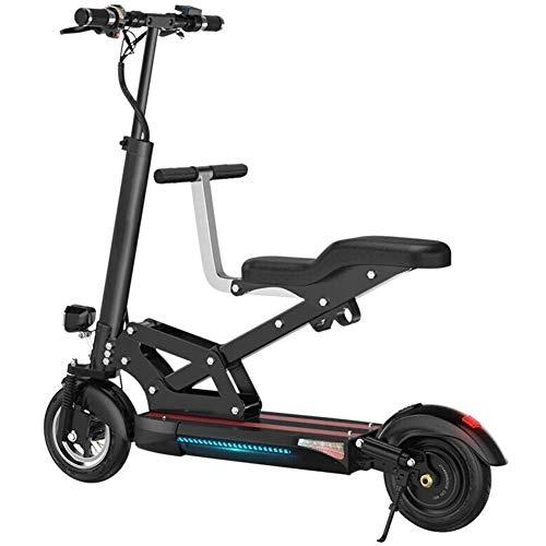 RXRENXIA Bicicleta Eléctrica, 48V 500W Portátil De Viaje Plegable De La Batería De Coche para Adultos Mini Plegable Bicicleta Eléctrica del Coche Ultra Ligero Plegable Ciudad De Bicicletas