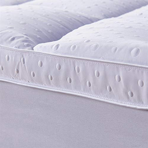 CnA Stores – Cloud Microfibre Mattress Topper Protector 3D Bubble Support Feels Like Pure Down Anti Allergy Hotel Quality (King 5FT)