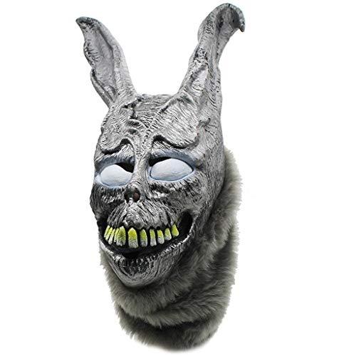 HUOQILIN boze konijn masker Frank kwaad zilver konijn dier hoofddeksels
