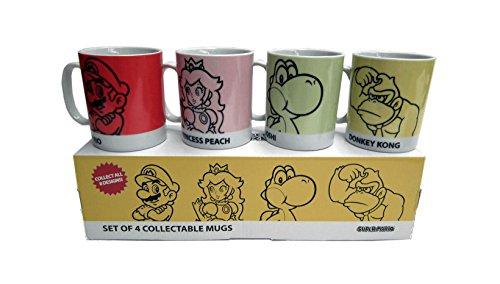Super Mario - Set de 4 Mugs à Collectionner