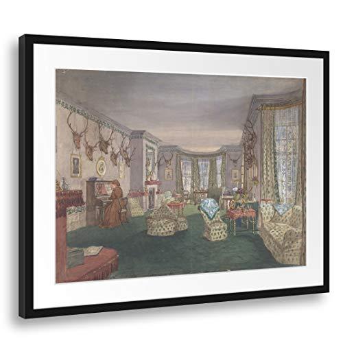 Printed Paintings Passepartout (80x60cm): Anónimo, británico, Siglo XIX - Sala de Dibujo...