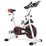 homcom Cyclette Spinning Professionale, Spin Bike Cyclette da Camera con Schermo LCD e Por...