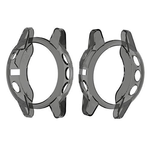 balikha 2X Protector de Pantalla de Carcasa de Pantalla de Reloj Inteligente para Fenix 5S 44.6mm