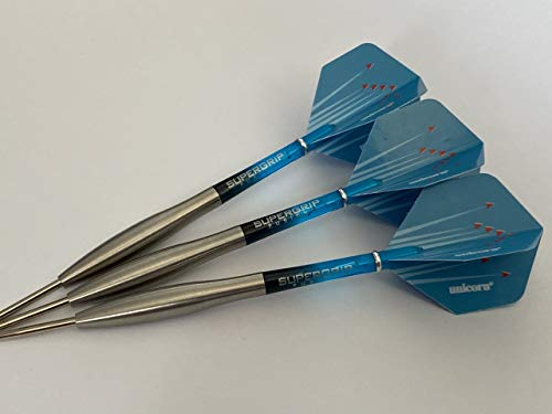 Nodor 25 g Smooth Red Arrows 90 % Wolfram Dart-Set Harrows Fusion Aqua Supergrip Stims, Einhorn Red Arrows Flights