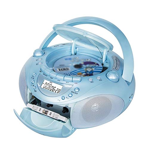 xutu Lectores de CD Reproductor de CD Portátil Boombox con Radio Am/FM, Toma de Auriculares, grabación de Cinta de CD/DVD de reproducción, Máquina de Aprendizaje Multifuncional MP3 / MP4 Player