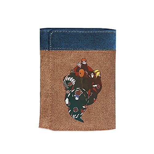 ZZYYII Naruto, Anime-Multi-Card-Brieftasche, Tri-Fach-Multifunktionsbranche, super große Kapazität, wasserdichte und verschleißfeste Leinwand-Brieftasche, Anime-Fan...