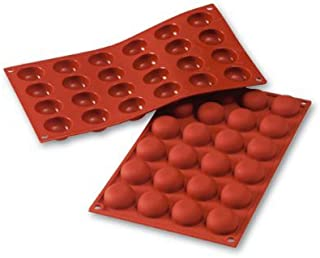 Silikomart SF009 Pomponette Shaped 24x18ml Italian Silicone Mould - Best Quality, Durable- Ideal For Both Chocolate Making...
