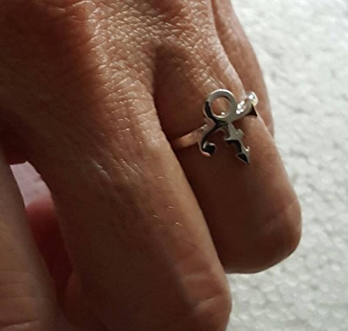 Prince Rogers Nelson Artist Love Symbol Women's Ring Adjustable (silver)