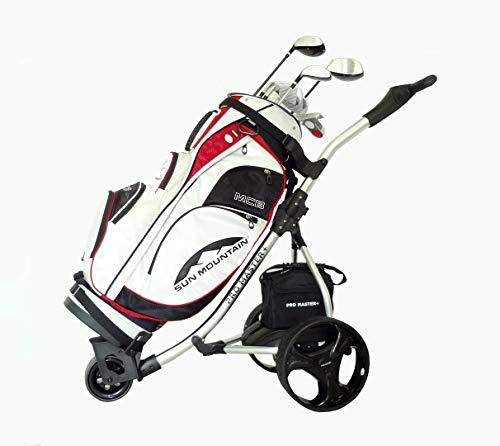 Electric Golf Trolley Digital Folding Cart Lightweight Power 36 Hole Battery