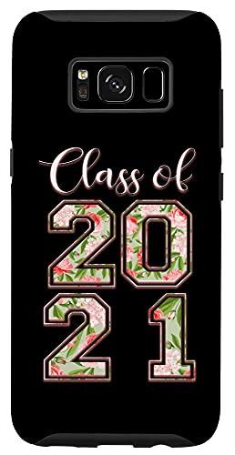 Galaxy S8 High School Class Of 2021 Floral Tee Senior Graduate Case