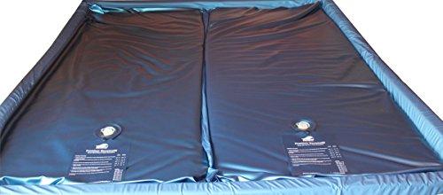 Mesamoll2 Dual Wassermatratzen 2er Set Wasserkerne für Softside Dual System Wasserbetten (180 x 220 cm, 90 Prozent Beruhigung)