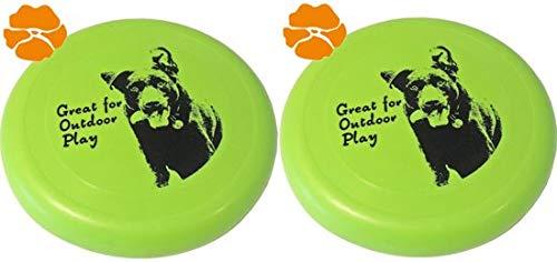 Hondenspeelgoed Frisbee Drijvend - 23cm - Groen - Verpakt per 2 stuks