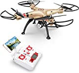 Syma FPV RC Drone with 720P Camera FPV WiFi X8HW Quadcopter 2.4GHz 6-Axis Gyro Remote Control Drone Headless Mode Altitude Hold 2 Speed Mode Gift for Kids Beginners
