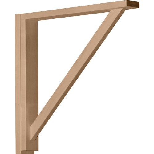 Ekena Millwork BKT02X17X17TRCH  2 1/2-Inch W by 17 3/4-Inch D by 17 1/4-Inch H Traditional Shelf Bracket, Cherry