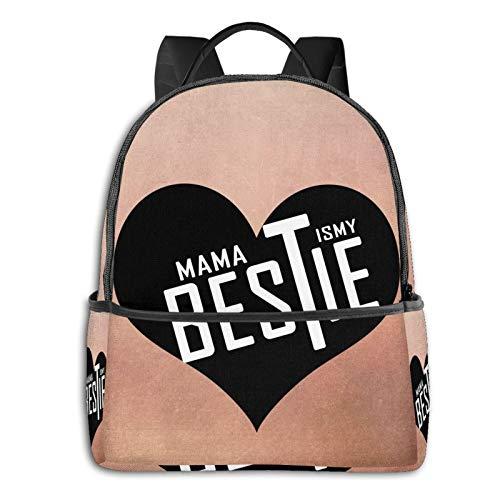 Mama Is My Bestie Creative Backpack Boy Backpack, Cute Girl Backpack Teen School Travel Backpack