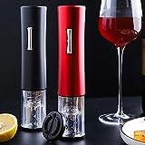 Red one Wine Sacacorchos 2 en 1 Abridor eléctrico A batería Abrebotellas automático Juego de cortadores de papel de aluminio Removedor de corcho Accesorios para bar en casa Red one