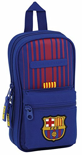 Futbol Club Barcelona - Plumier forma de mochila con 4 portatodos llenos (Safta 411729747)
