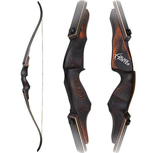 SHARROW 60 Zoll Bogenschießen Take-Down Recurve bögen und Jagd Pfeil Bogen Set 20-60 Lbs Rechte Hand für Jugendliche und Erwachsene und Bögen Zubehör (35lbs)
