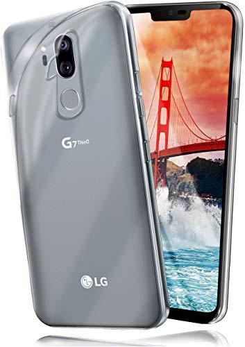 moex Aero Hülle für LG G7 ThinQ / G7 Fit - Hülle aus Silikon, komplett transparent, Handy Schutzhülle Ultra dünn, Handyhülle durchsichtig - Klar