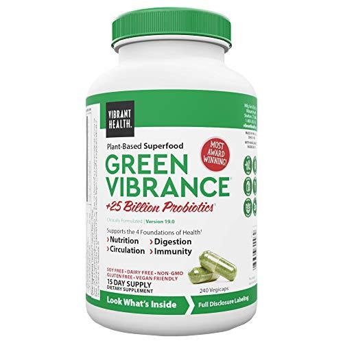 Vibrant Health, Green Vibrance, Vegan Superfood Pills, 240 Capsules (FFP)