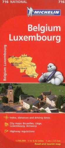 Mapa National Bélgica Luxemburgo: 716 (Mapas National Michelin) [Idioma Inglés]