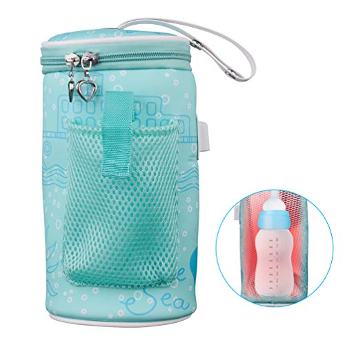 AOZBZ Baby Bottle Warmer Bag Portable USB Heating Intelligent Warm Breast Milk Insulated