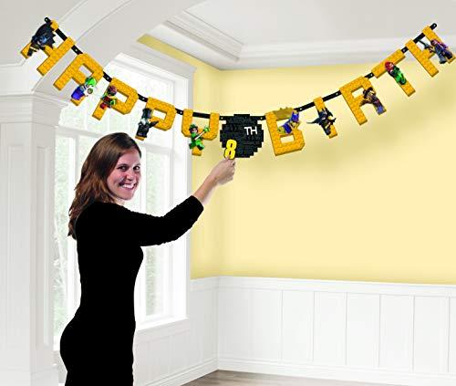 amscan Lego Batman Jumbo Add-an-Age Happy Birthday Letter Banner - Print Paper