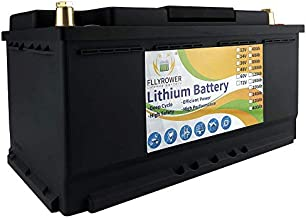 FLYPOWER New American Brand 36V 40Ah Lifepo4 lithium batteries with Low Temp Protection Bluetooth BMS Up to 7000 Deep Cycles for Golf Cart Solar RV Camper Marine Battery with Charger