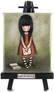 Santoro Gorjuss Collectible Canvas Easel Art - I Gave You My Heart