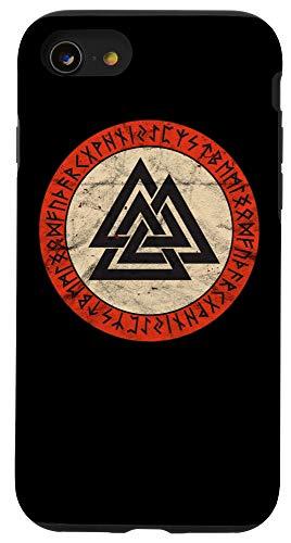 Viking Odin Wotan Norse Mythology Rune Valknut Iphone Se 2020 7 8 Viking Knot Valknut Odin Wotan Old Norse Mythology Warrior Case From Amazon Daily Mail