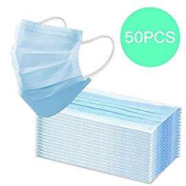Disposable Face Masks Medical Mask (Blue 50pcs), Comfortable Sanitary Surgical Mask for Dust, Medical Earloop Mouth Mask,3-Layer Anti Dust Breathable,Protection and Personal Health Professional 4 <p>SIZE FITS MOST:We are pleased to say that our face masks are suitable for adults and children making them ideal to keep in your home in case of an emergency. UNIQUELY DESIGNED:Comfortable elastic earloop,extra-soft ear loops eliminate pressure to the ears. Inner layer is made of soft facial tissue, no dye, gentle to the skin. WIDELY APPLICATION: Perfect mouth mask when travelling through congested airports bus terminals malls parks and busy city streets. 3 LAYERS OF MATERIAL: The mask is made of 3 layers of high-quality non-woven fabric; it has a stronger filtering effect and is more warm and breathable. SERVICE WARRANTY: 50 x Breathable Medical Masks,Please be free to contact us if you have any questions.We will try our best to solve your problem to ensure your best shopping experience.</p>